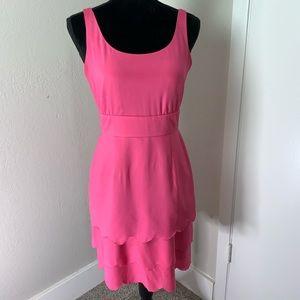 Gianni Bini Pink Scalloped Layered Dress